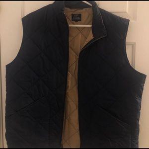 XL Navy Blue Quilted J.Crew Vest